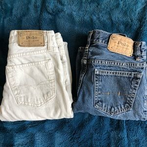 2 pair of boys Polo jeans
